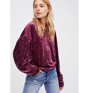 We The Free Milan Velvet Long Sleeve Top